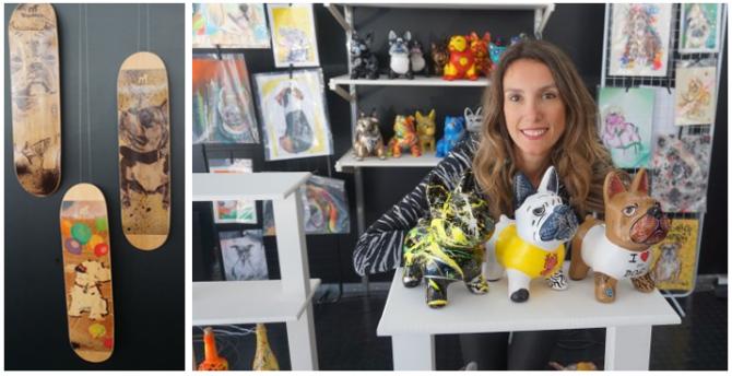 Fefe Rosada e os seus dogs da Per Art Crew