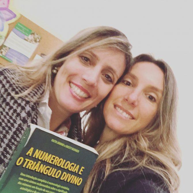 Adriana Perazzelli e Fefe Rosada fazendo o mapara numerológico