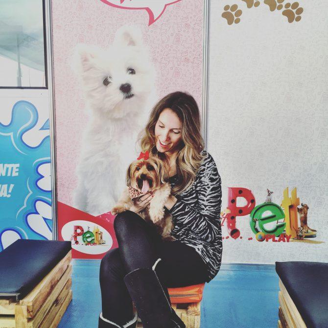 Fefe Rosada no Pet & Play, o maior evento para cachorros do Brasil