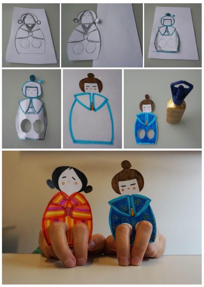 Aprenda a fazer um teatro de dedinhos, usando apenas: papel, tesoura e canetinhas.