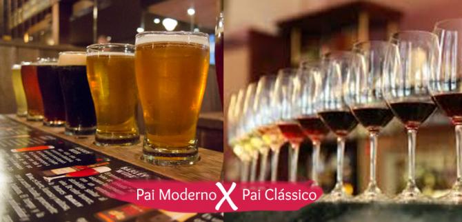 Cheers!!! Bora, bebemorar o dia dos pais numa bela degustação de vinhos ou de cervejas artesanais.
