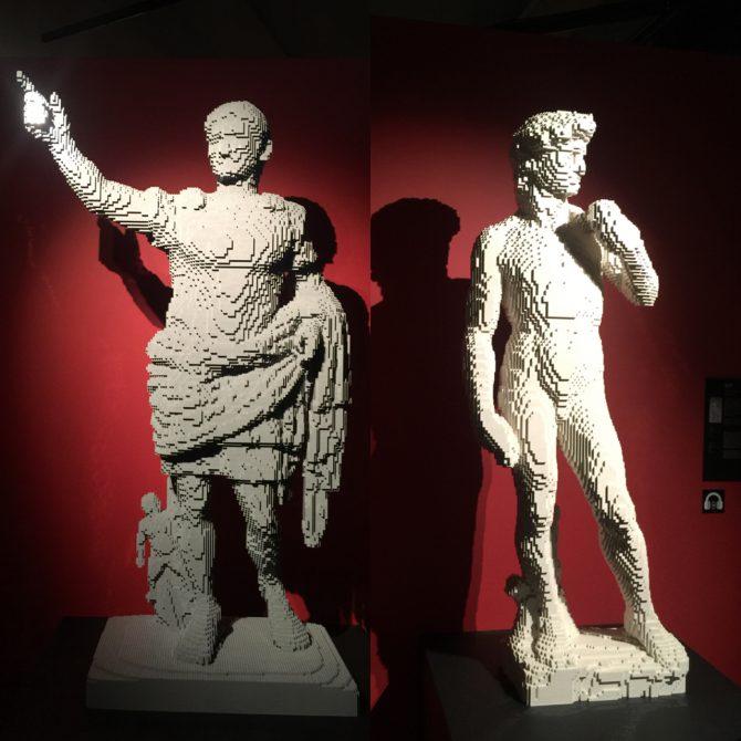 As Famosas estátua de Lego de Augusto de Prima Porta e David