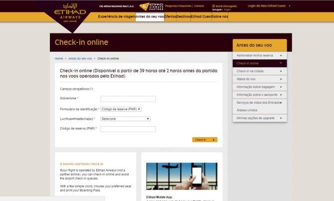 faça sempre check-in online para evitar filas e checar seu voo.