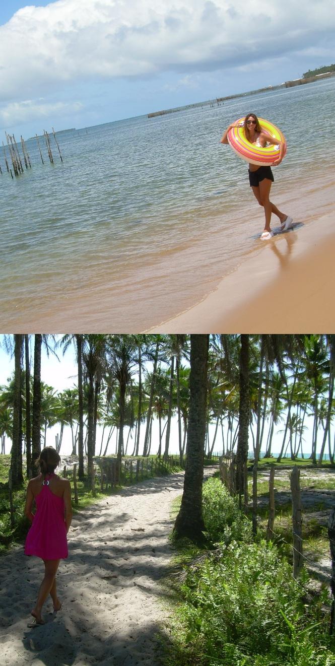 Fefê Rosada do Blog Up na Vidinha na Península de Maráu - Barra Grande e Boipeba