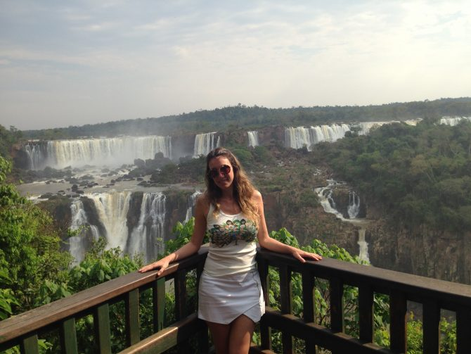Fefê Rosada do Blog Up na Vidinha nas Cataratas do Iguaçu.