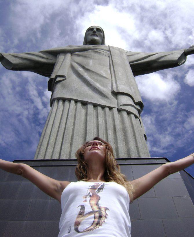 Fefê Rosada no Cristo Redentor, RJ