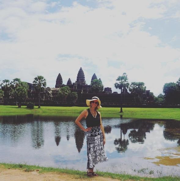 Fef~e Rosada do Blog Up na Vidinha em Angor Wat