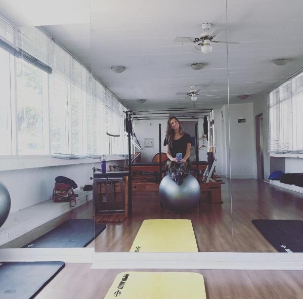 Fefê Rosada no Pilates
